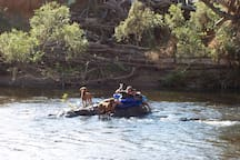 Fun in the river for all the family