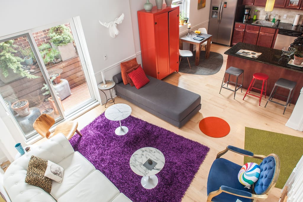 Birds-eye view of the living space