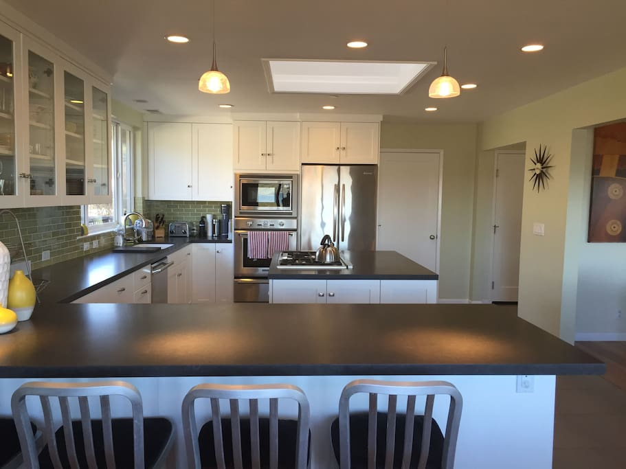 Spacious and open kitchen.