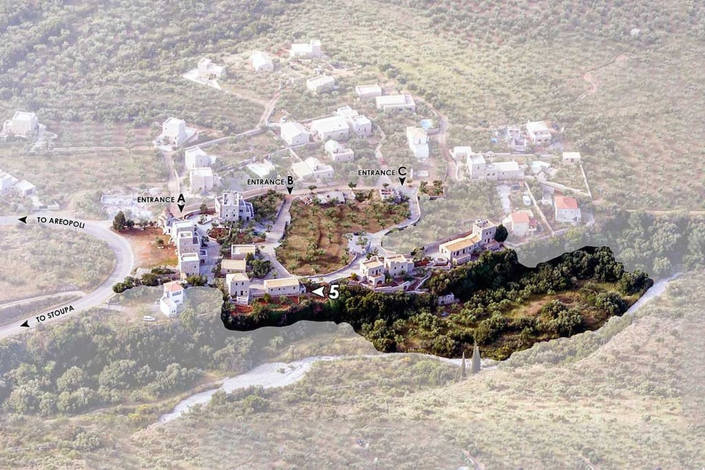 "North - Birdeye view of ""TZOKEIKA"" traditional settlement, House n. 5"