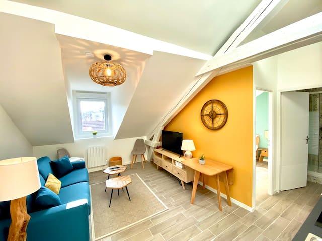 Appartement 6 neuf, chaleureux au cœur d'Annemasse