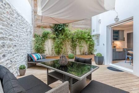 Bartéa - Biarritz city center, private terrasse & barbecue