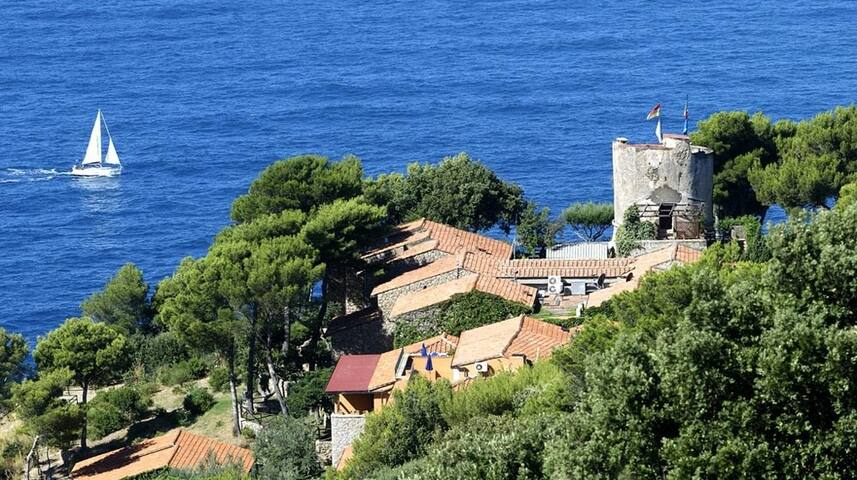 CASA DI CALA PICCOLA private beach - Monte Argentario - บ้าน
