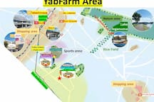 YabFarm Lodge is located in a quiet suburb of Tokyo.  You can enjoy walking in Nature area with Lake Teganuma and rice field. You can enjoy shopping in many big department stores and shopping centers. You can play indoor/outdoor sports in Sevenpark.