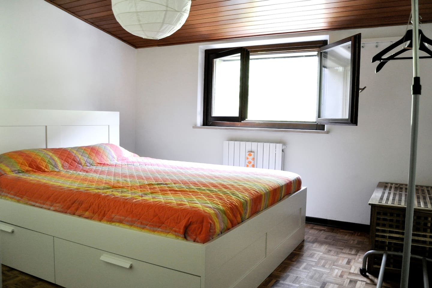 This is the romantic room where you will rest after skiing, biking or hiking.....very warm in winter, fresh in summer!
