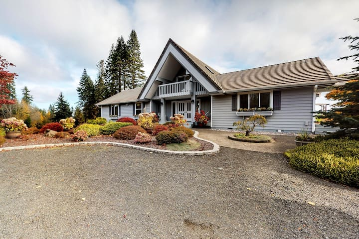 NEW LISTING! Dog-friendly, water view home on five acres w/ a full kitchen!