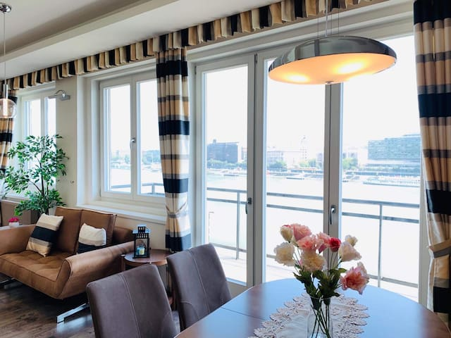 High-end share-apt on the riverside of Danube