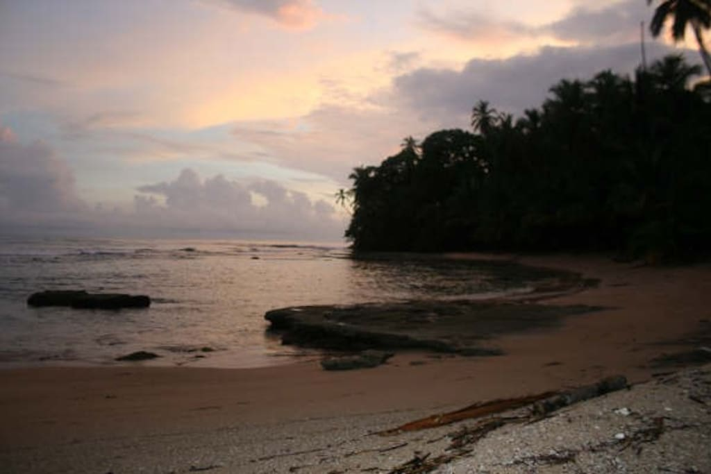 Great for snorkelling, but so nice to just sit and watch the sunset...
