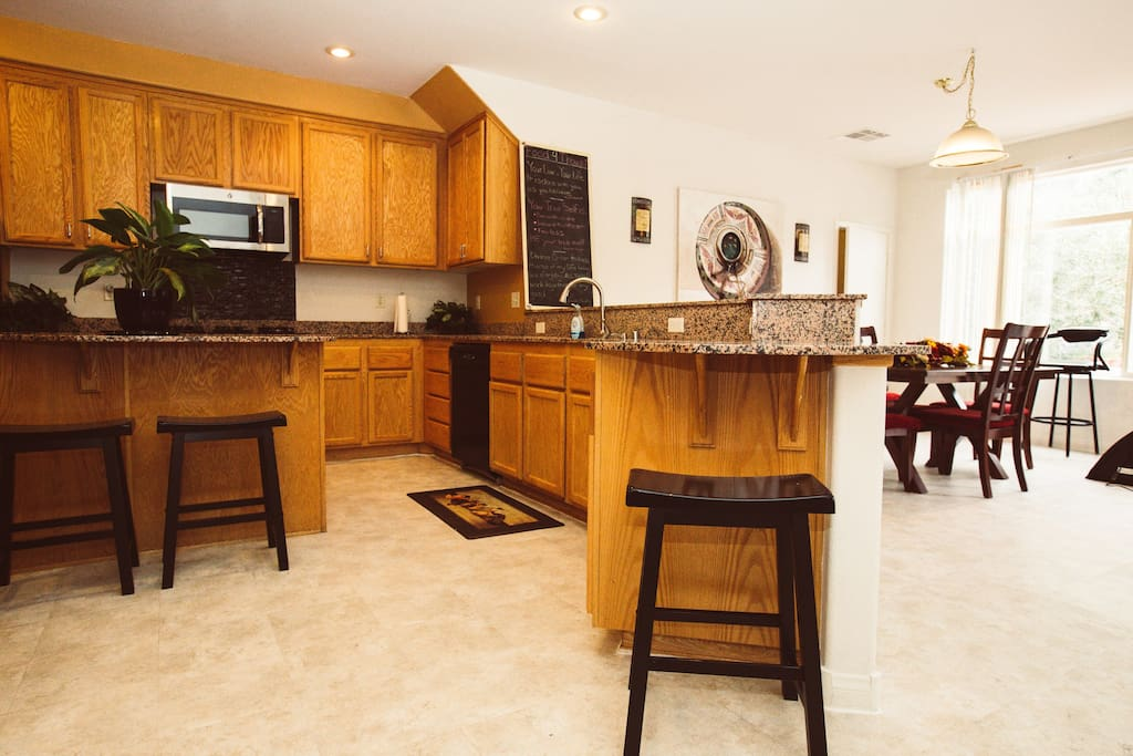Large kitchen and nook.
