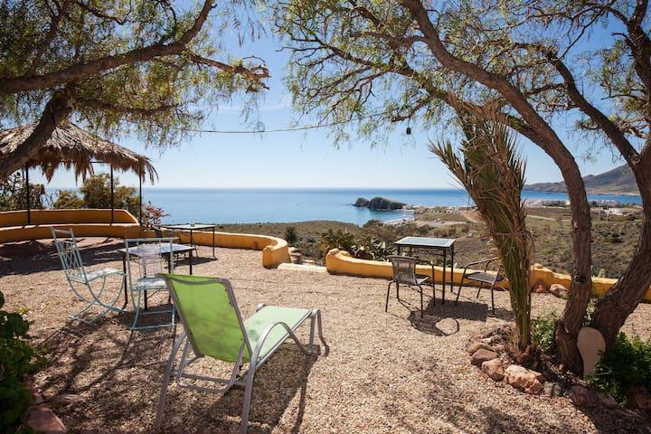 Vista espectacular-La Loma Hab.B - La Isleta del Moro - Bed & Breakfast