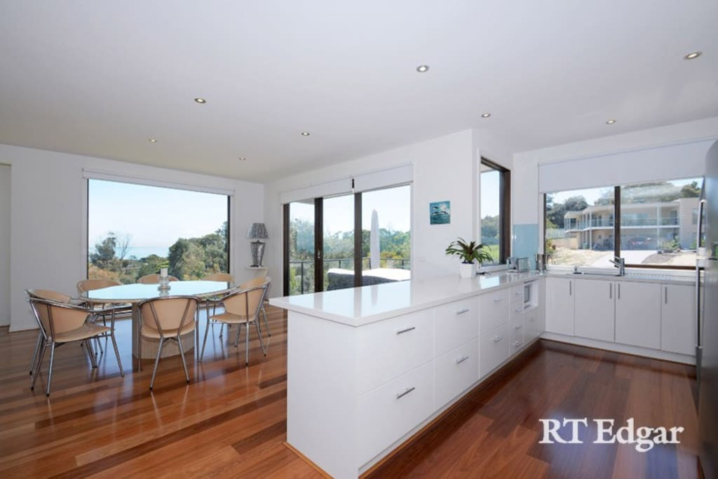 Spacious open plan kitchen and dining room