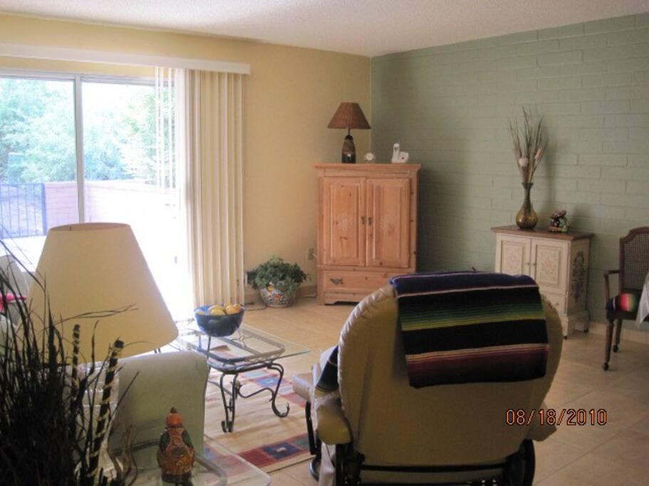 Contemporary southwestern living room