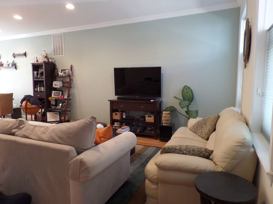 2 large couches provide ample seating!