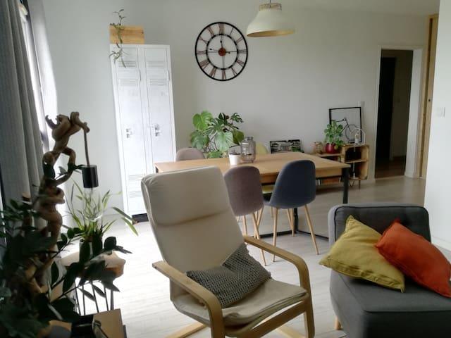 Bel appartement avec vue imprenable sur Nantes !