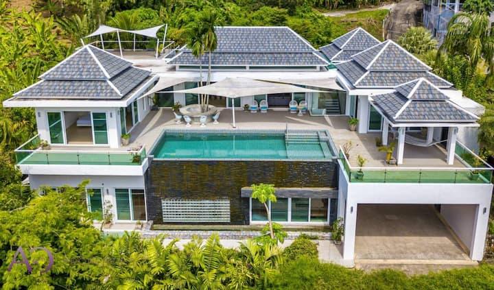 Retreat 4bedrooms Mountain View Villa Kamala Beach