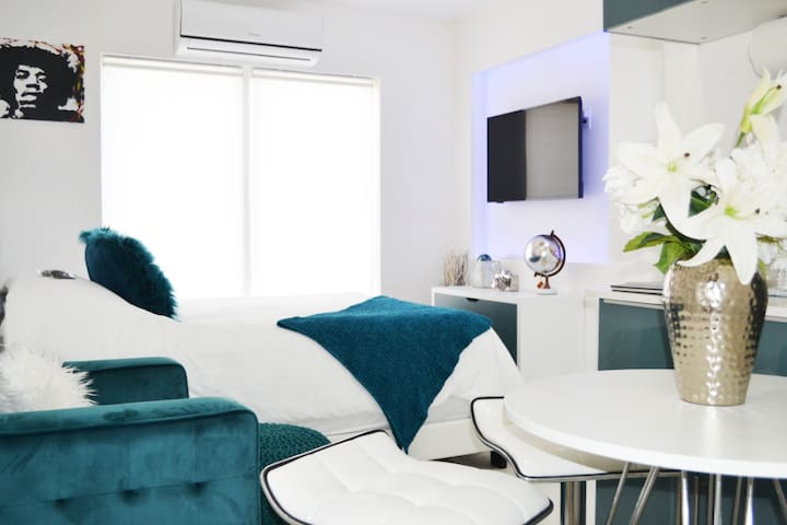 Luxury Studio Apartment Downtown Queen Bed Modern