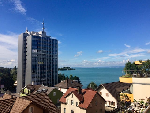 Beautiful apartment with view on lake Costanza - Rorschach - Lägenhet