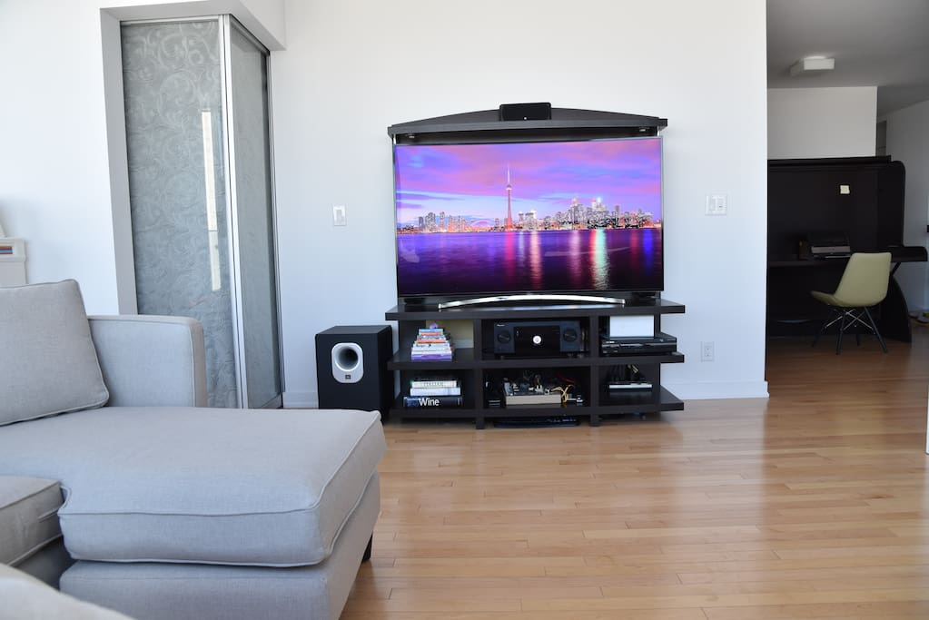 Large TV from your sitting area
