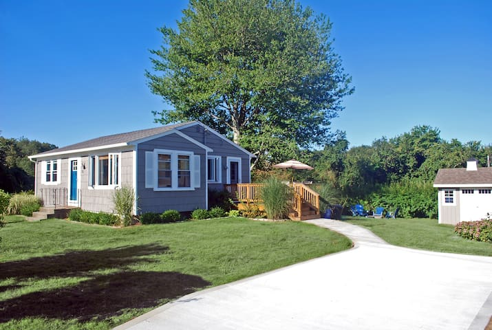 We have a double lot with plenty of space for yard games and family fun.