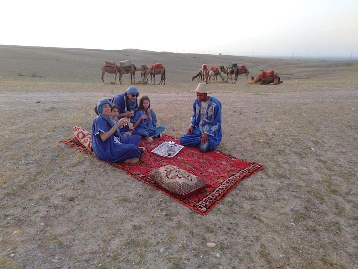Family  tour in Agafay desert