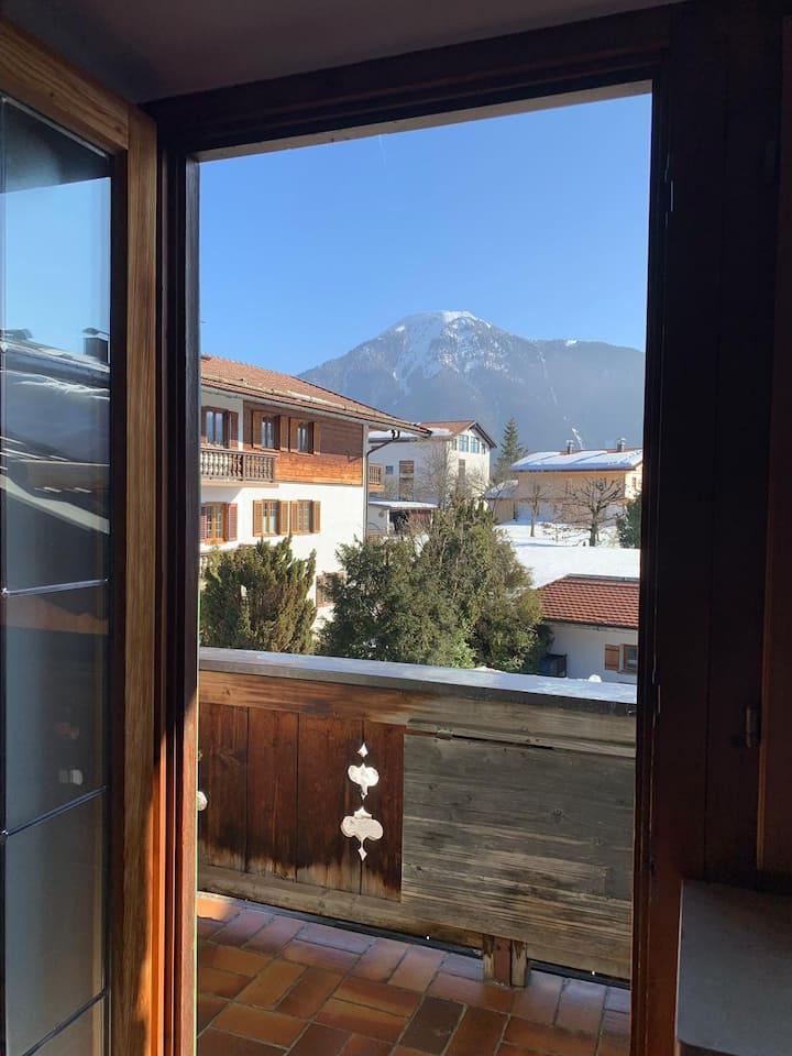 Einzelzimmer mit Bergblick
