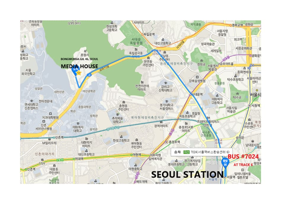 Bus route from Seoul St.