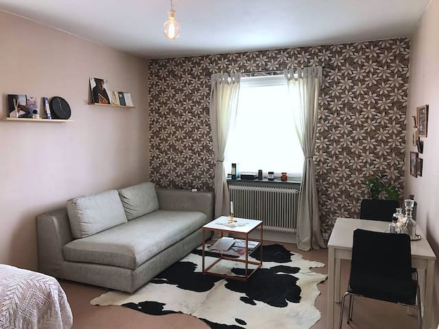 Bright and cozy studio 2 min walk from metro - Tukholma - Huoneisto
