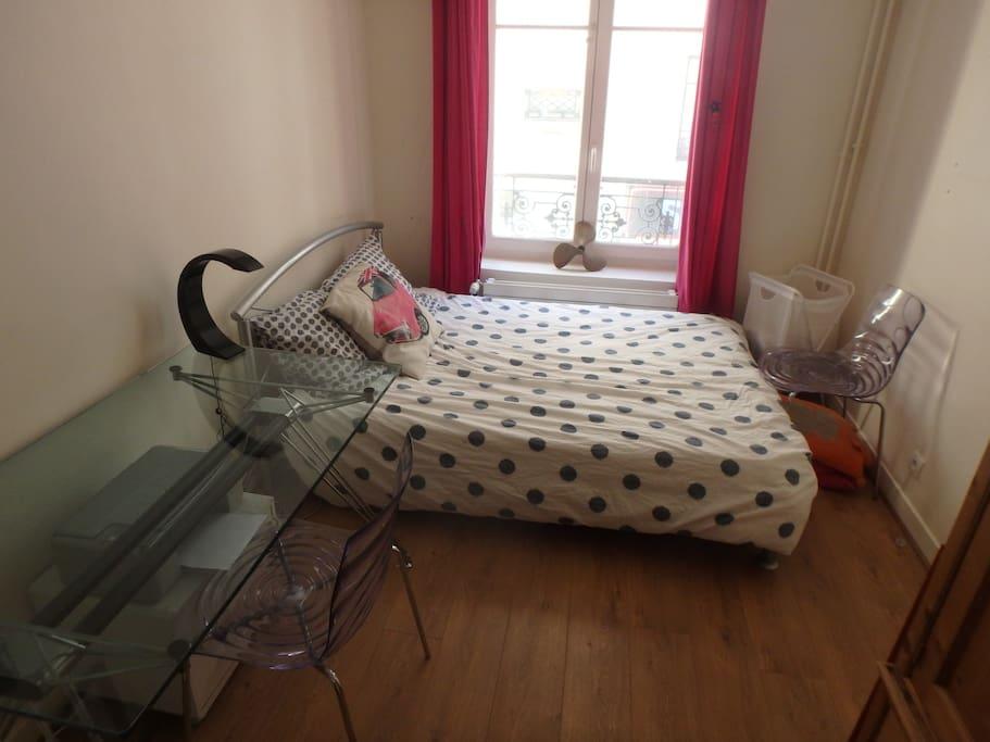 Chambre individuelle avec bureau