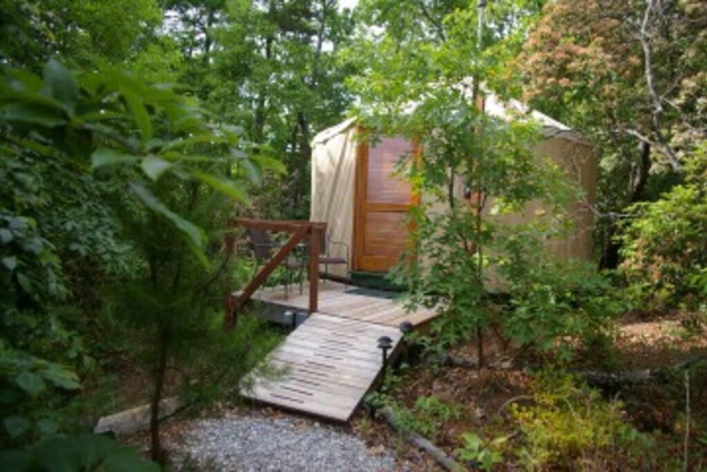 Exterior of Yurt