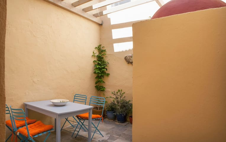 A Place to Relax The Private Inner Courtyard with different furniture these days