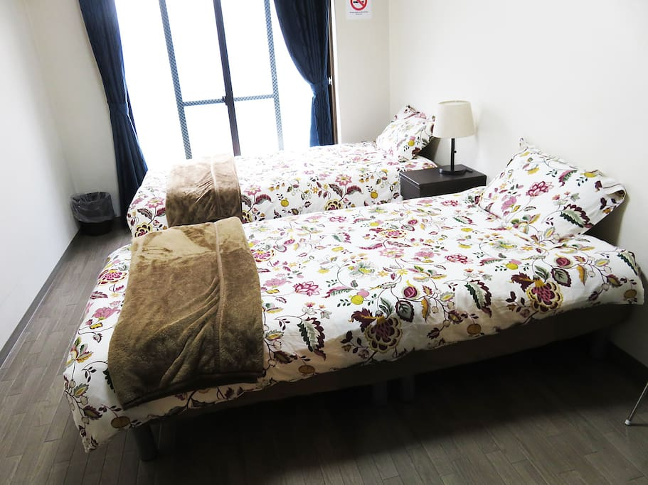 2 single bed!