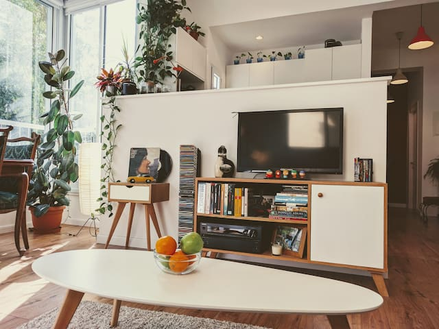 Living Room: kitchen is a part of the living room, allowing a social hosting experience