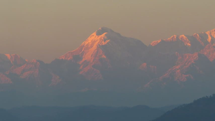 The Trishul as viewed from the property