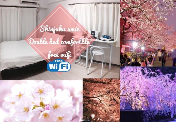 (NEWOPEN 35%off)東京、新宿を旅する快適なお部屋新宿まで4分 freewifi