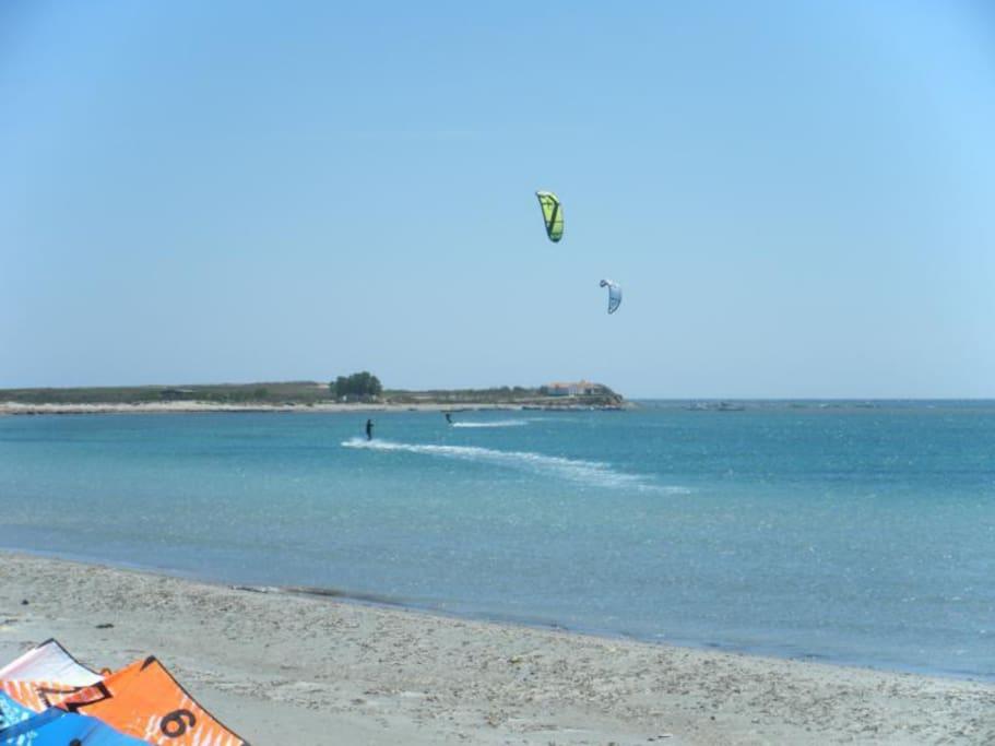 Flat spot at Keros Beach