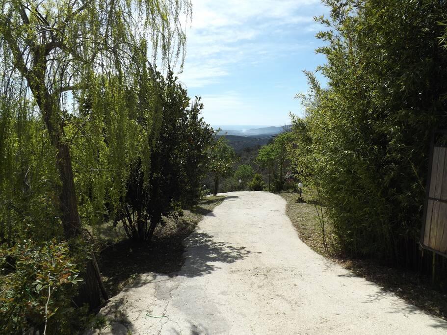 strada di ingresso