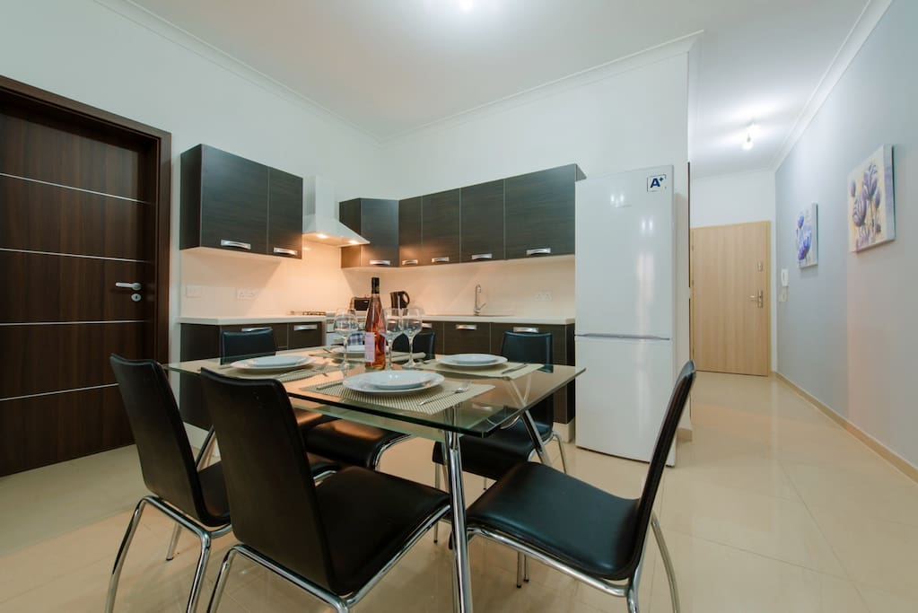 Large and Bright Open Plan Kitchen, Living and Dining Area.