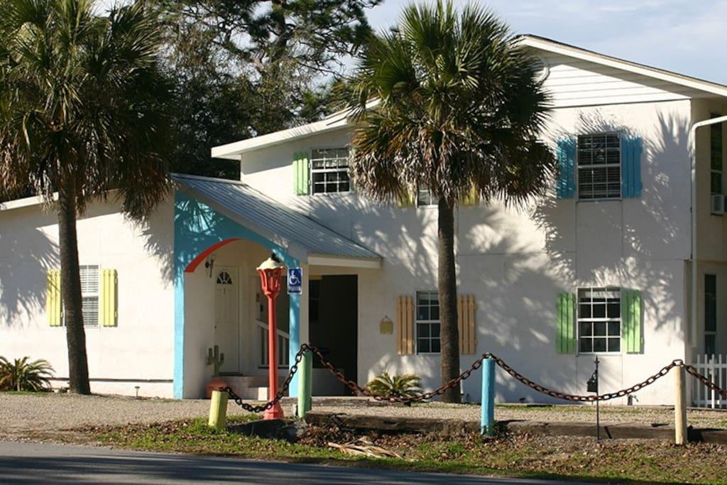 The Heron House entrance