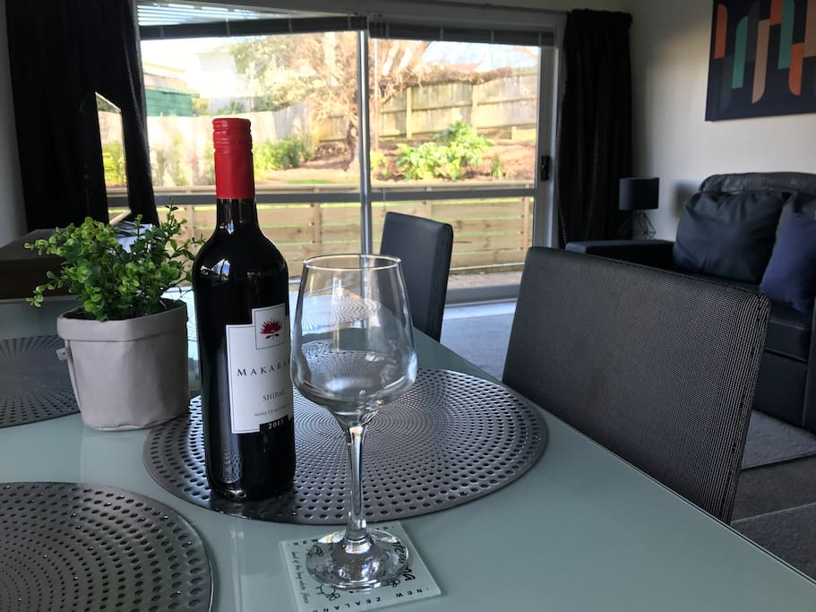 Enjoy a wine and relax while dining, and enjoy the view