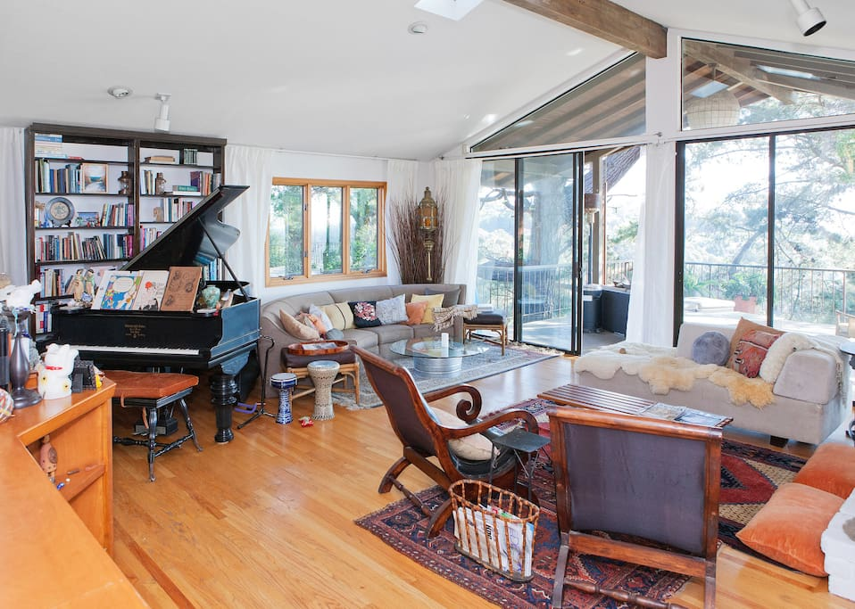 A gorgeous piano is available
