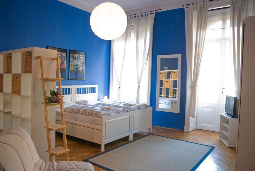 Blue room with matrimonial bed