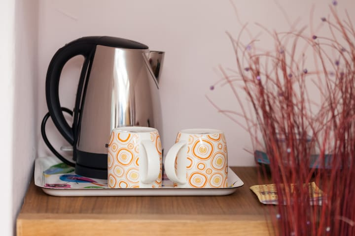 Tea and coffee making in your bedroom - range of herbal teas included