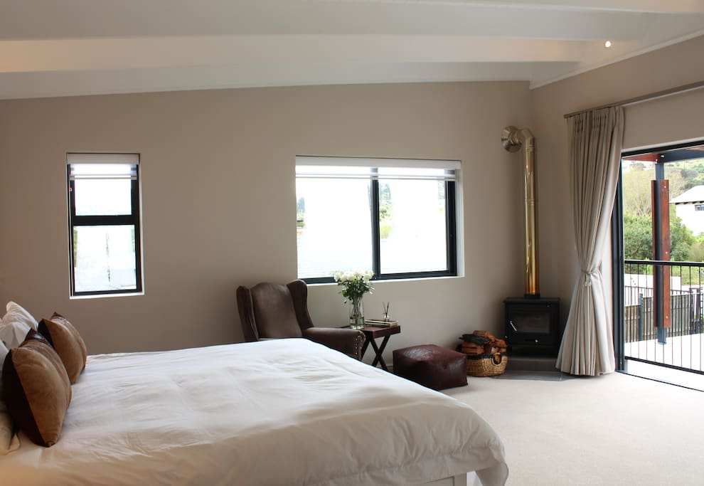 Large luxurious King size bedroom, opening on to your own private balcony