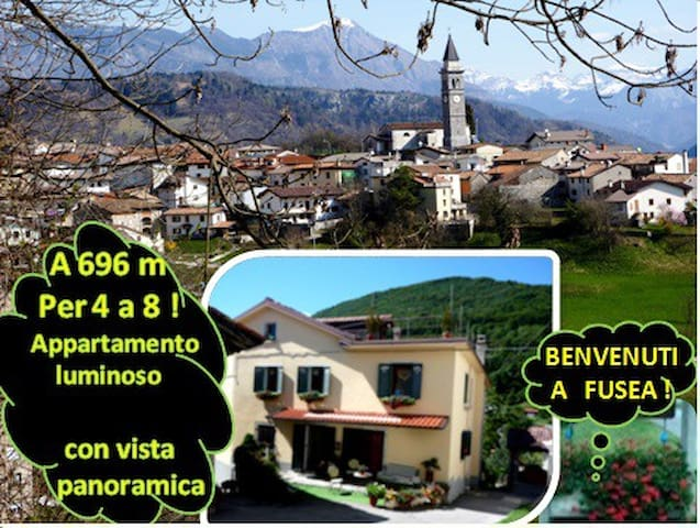 A 696m : A 6, vasto appart. con vista panoramica ! - Tolmezzo - House