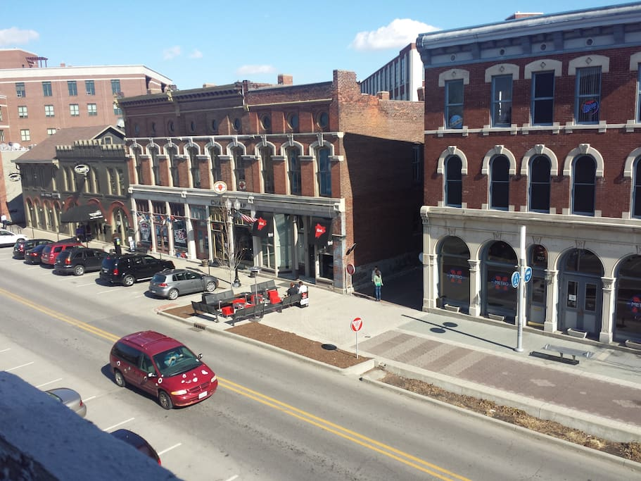 View of Mass Ave from upstairs bedroom