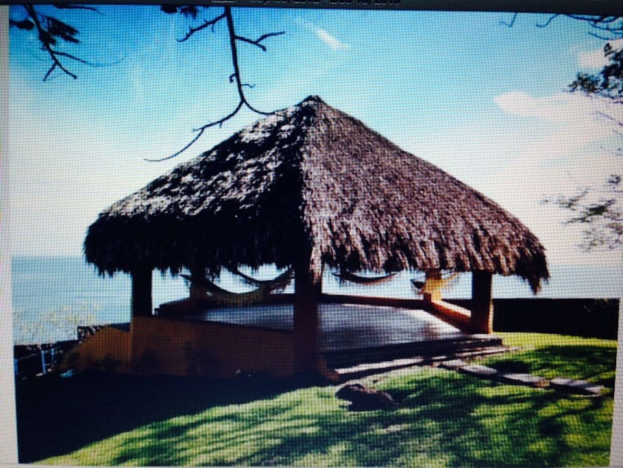 Palapa with hammocks