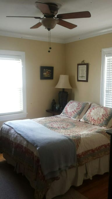 Warm and inviting bedroom with Stearns & Foster Mattress.