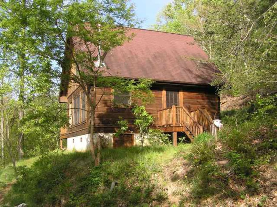 Our cabin in the woods near Asheville.