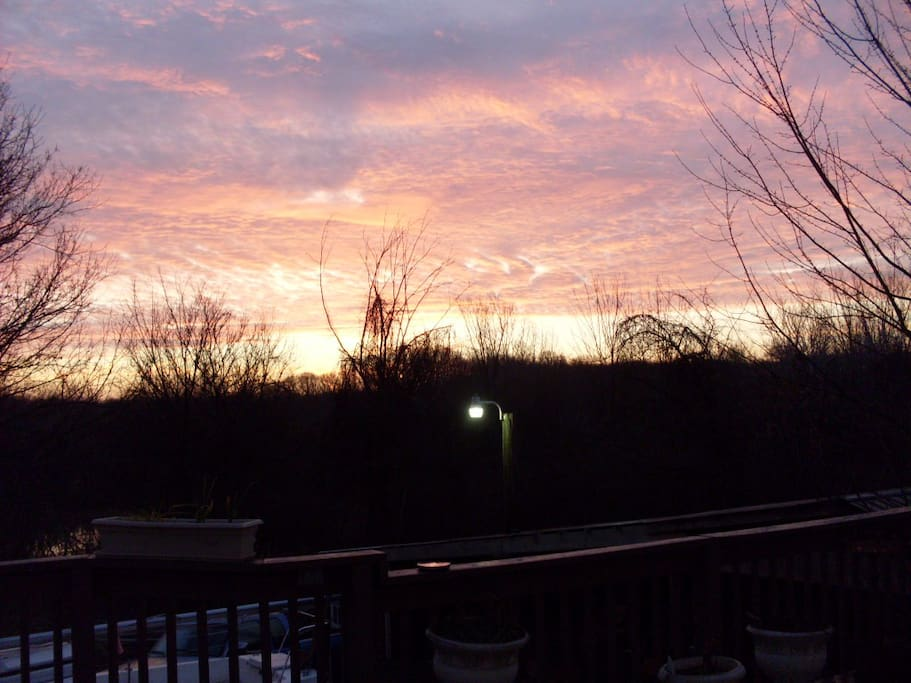 Sunrise from our deck.