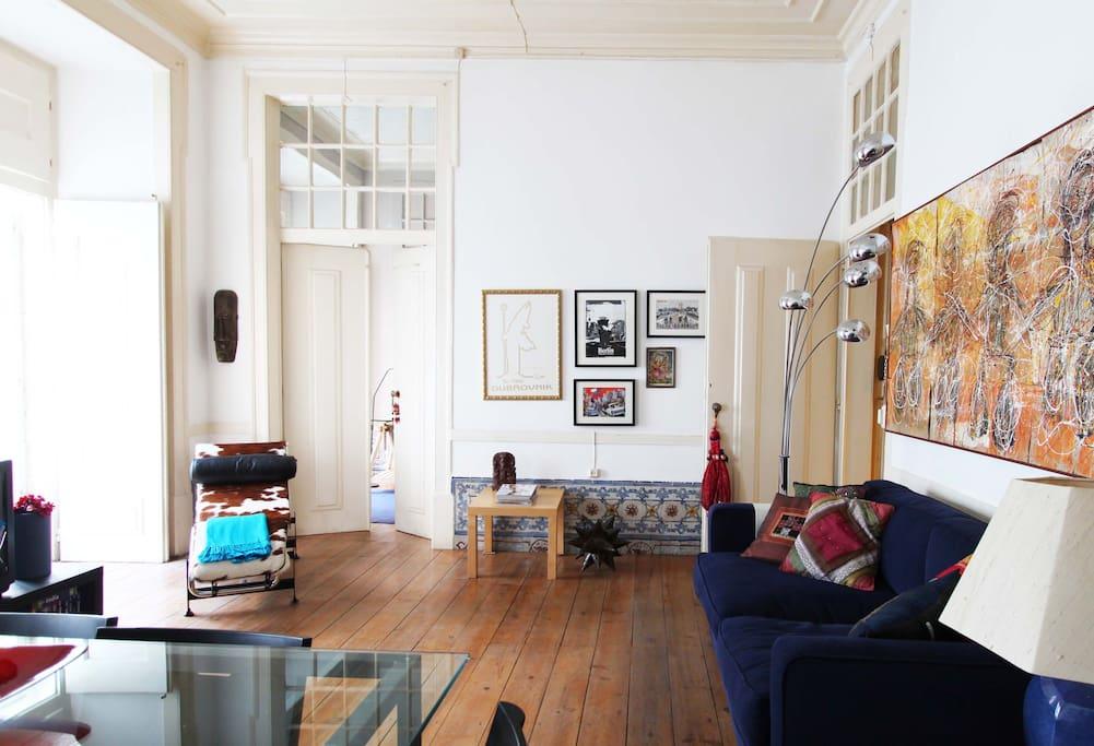 Living room and bedroom door